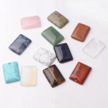Natural Square Gemstone Chakra Healing Pendant