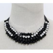 Bead Crystal Fashion Charm Chunky Bib Kostüm Chokerkragen Halskette (JE0024)