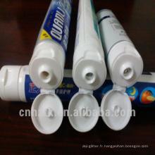 tube de dentifrice pliable laminé en plastique de 3 couleurs