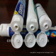 plastic 3 color laminated collapsible toothpaste tube