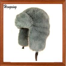 Kunstpelz-Trapper-Hut - grauer Winter-Hut-warmer Hut