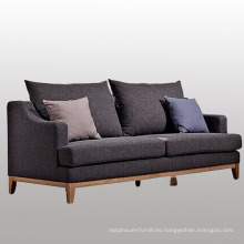 Euro Style Living Room Fabric Sofa with Three Seater