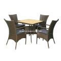 Muebles de mimbre al aire libre de mimbre silla conjunto jardín