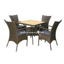 Jardim de conjunto de cadeira de vime do pátio ao ar livre do Rattan móveis