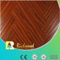 Piso de laminto absorbente de 8 mm en relieve comercial de la nuez comercial
