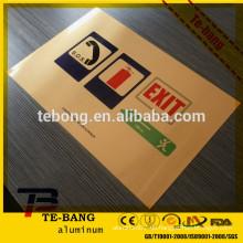 Kundenspezifische Wärmeübertragung Metallplatte Blatt Sublimation Silber Farbe, Aluminium Sublimation Blatt flache Oberfläche