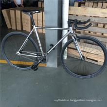700c Adult Mens Chrome Frame Bullhorn Bar Fixed Gear Bike Fixie Bicycles Cyling