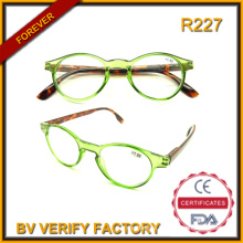 R227 2016 Hotsale New Trendy Round Frame Reading Glasses (BV audited factory)