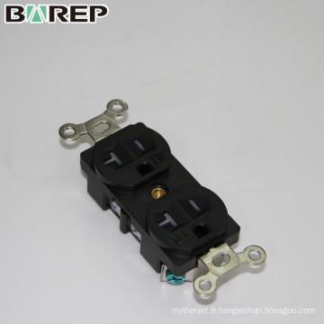 Prise d'alimentation électrique gfci américain duplex réceptacle pour usa