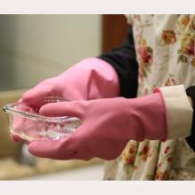 NMSAFETY аттестованный CE не поддерживается химической безопасности перчатки нитрила ближнего