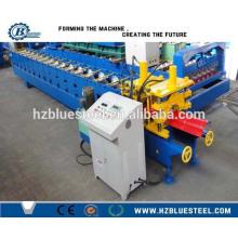 Largement utilisé Couleur Acier Métal Toit Tête Cap Tile Machine à formage de rouleaux froids Toit Ridge Fabricant Machine Chine