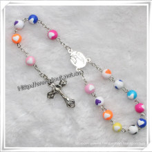 Fashion Handmade Plastic Beads Car Rosary (IO-CB126)
