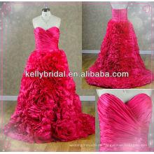 2014 neue Art rote Taft Brautkleid mit Sweathreat Ausschnitt