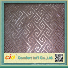 Nouveautés conception mur et décoration en cuir PVC