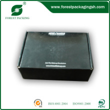 Flap Top Black Printed Box Custom Box