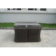 Preto ao ar livre de vime Rattan clássico melhor mobília