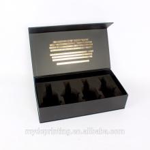 Caja de regalo de lujo del papel de vino de la caja de empaquetado del tequila con espuma de EVA