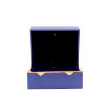 Custom blue jewelry bracelet box necklace ring pendant box with your logo