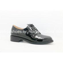 Bequeme europäische niedrige Ferse-Freizeit-Spitze-Frauen-Schuhe