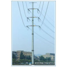 220kv Double Circuit Electriciy Transmission Angle Steel Pole
