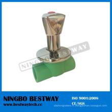 Soupape d'arrêt cachée de PPR en plastique pour l'eau (BW-S20)
