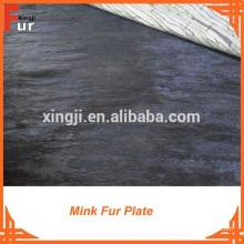 Plaque de fourrure de vison brun foncé