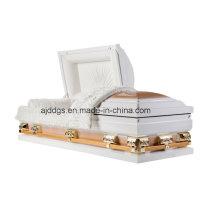 Caixão branco e ouro (tamanho grande)