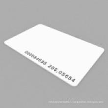 Proximité Em4100 / 4102 Carte d'identité RF mince avec code Uid gravé au laser
