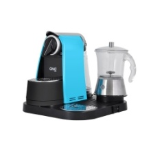 Lavazza Blue Machine with Glass Milk Frother
