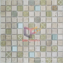 Travertine with Glass Mosaic (CSR072)