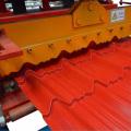 Rolo vitrificado da telha de telhado da chapa de aço que forma a máquina