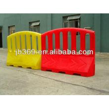 Plastic portable road crash barrier