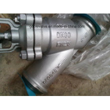 DIN Butt Welded Y Tipo Bellow Seal Globe Valve (WJ65H)