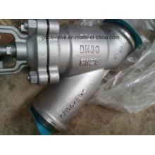Válvula de globo soldada tipo Y com fole DIN (WJ65H)