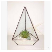 Planta de vidro quadrado Plantador de estilo de terrário