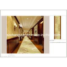 Machine Made Imprimé Polyester Modern Wall to Wall Tapis d'hôtel