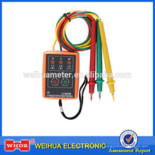 Testeur de phase de phase de mètre de phase de mètre de séquence de compteur d'indicateur de phase de l'indicateur de séquence de phase WH852B