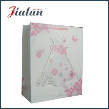 3D grueso personalizar Logo imprimido buena calidad bolsa de papel de boda