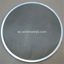 Plain Weave Stainless Steel Mesh Filter Screen