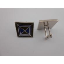Квадратные пользовательские запонки из металла с эмалевым запором (GZHY-XK-014)