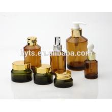 frasco cosmético ambarino extravagante frasco âmbar