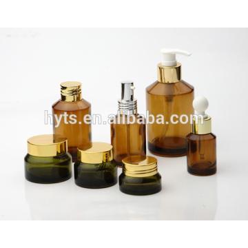 fantaisie cosmétique ambre bouteille ambre verre pot