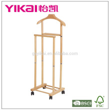 Valet de suspensión de madera sólida juego con función