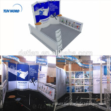 Detian offer exhibition display system trade show backdrop stand trade fair booth