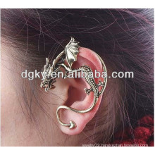 Bronze Vintage Punk Style Dragon Ear Piercing Ear Clip Ear Jewelry