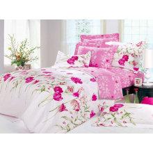 tissu de lit de lit de poly coton imprimé