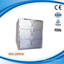 MSLMR06W CE Proved Corpse Gefrierschrank / Corpse Kühlschrank 6 Körper Mortuary Kühlschrank