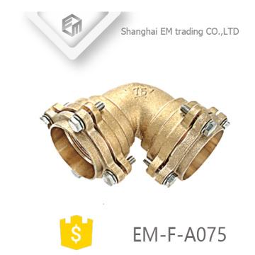 EM-F-A075 Raio curto de latão de alta qualidade Encaixe de tubo tipo flange de cotovelo de vedação alta