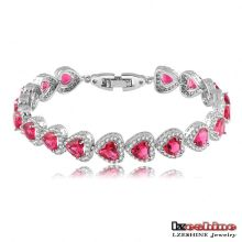 Ruby Zircon Heart Love Women Bracelets (CBR0034)