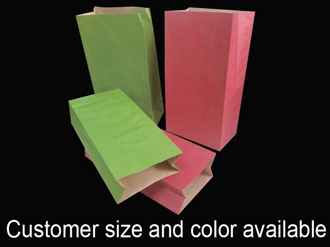 Colored handheld gift Kraft paper bag